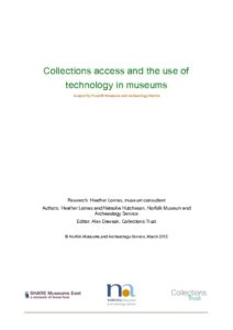 thumbnail of Collections-Access-and-the-use-of-Digital-Technology