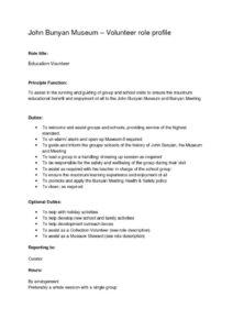 thumbnail of Role-Profile-Education-Vol-John-Bunyan
